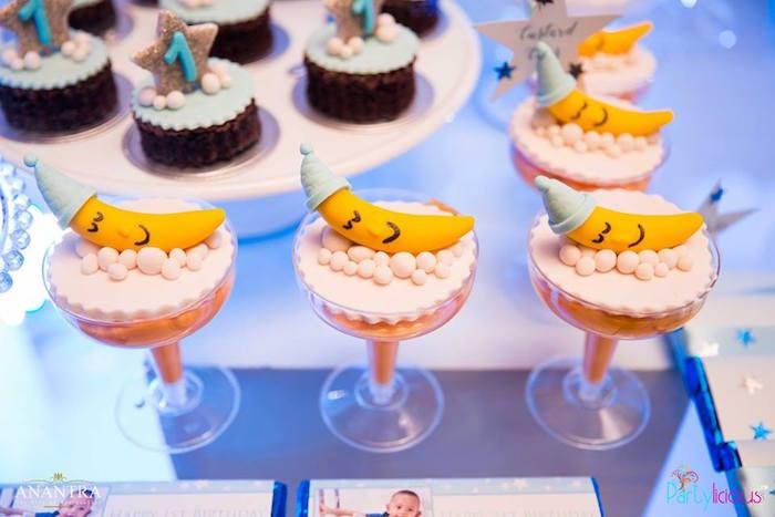 Moon custard cups from a Stars and Moon Birthday Party on Kara's Party Ideas | KarasPartyIdeas.com (19)