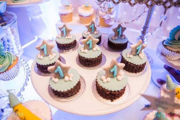 Star cupcakes from a Stars and Moon Birthday Party on Kara's Party Ideas | KarasPartyIdeas.com (17)