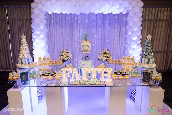 Star-lit sweet table from a Stars and Moon Birthday Party on Kara's Party Ideas | KarasPartyIdeas.com (12)