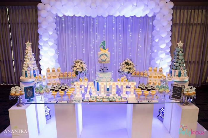Birthday Cake Table Backdrop Ideas
