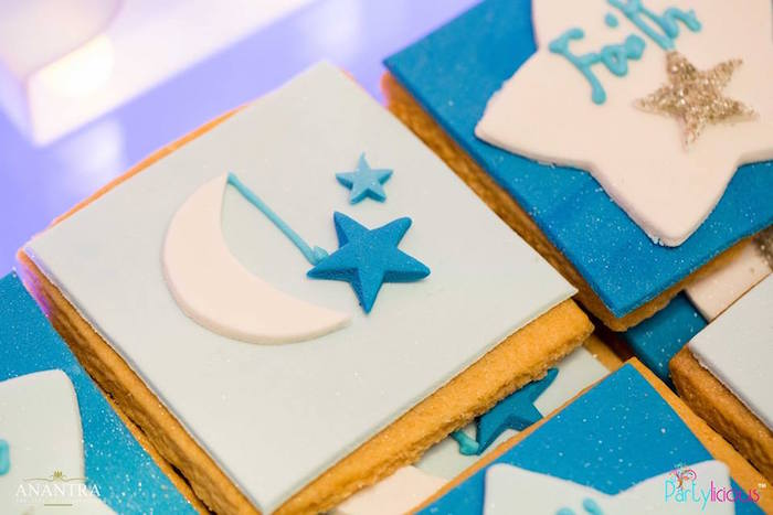 Cookie from a Stars and Moon Birthday Party on Kara's Party Ideas | KarasPartyIdeas.com (10)