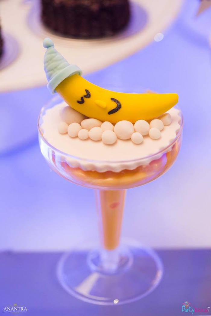 Moon custard cup from a Stars and Moon Birthday Party on Kara's Party Ideas | KarasPartyIdeas.com (5)
