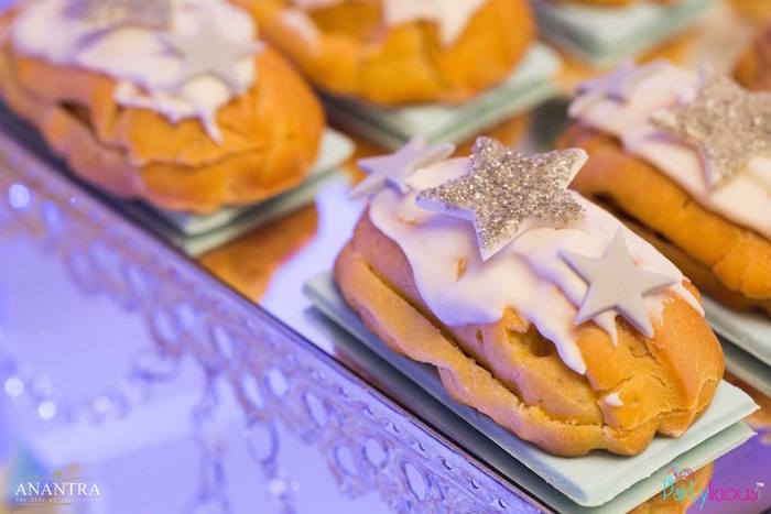 Eclairs from a Stars and Moon Birthday Party on Kara's Party Ideas | KarasPartyIdeas.com (4)