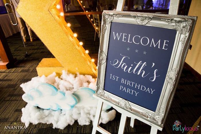 Signage from a Stars and Moon Birthday Party on Kara's Party Ideas | KarasPartyIdeas.com (30)