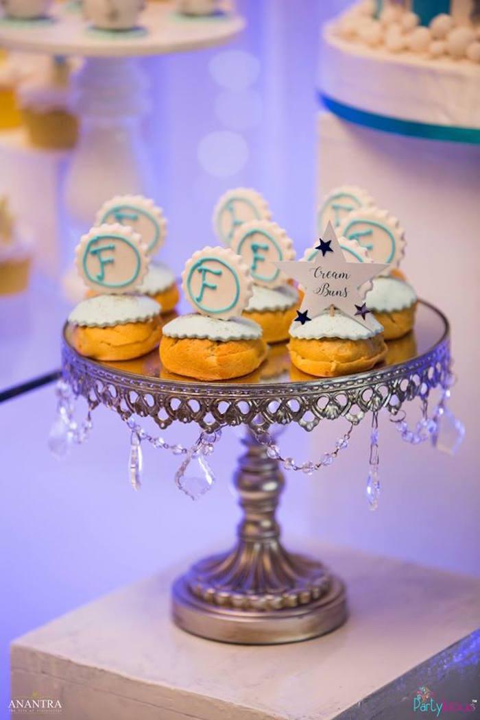 Cream buns from a Stars and Moon Birthday Party on Kara's Party Ideas | KarasPartyIdeas.com (2)