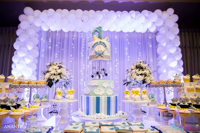 Kara's Party Ideas Stars and Moon Birthday Party | Kara's ...