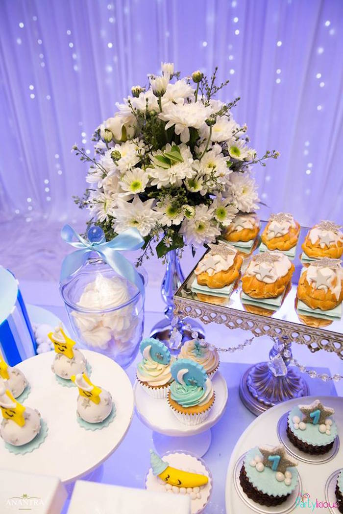 Sweet table details from a Stars and Moon Birthday Party on Kara's Party Ideas | KarasPartyIdeas.com (28)
