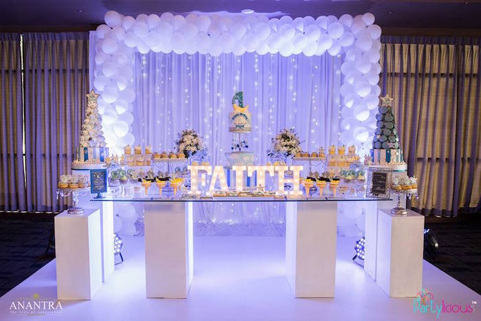 Dessert table from a Stars and Moon Birthday Party on Kara's Party Ideas | KarasPartyIdeas.com (24)