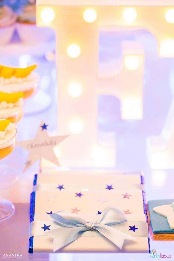 Star chocolates from a Stars and Moon Birthday Party on Kara's Party Ideas | KarasPartyIdeas.com (23)