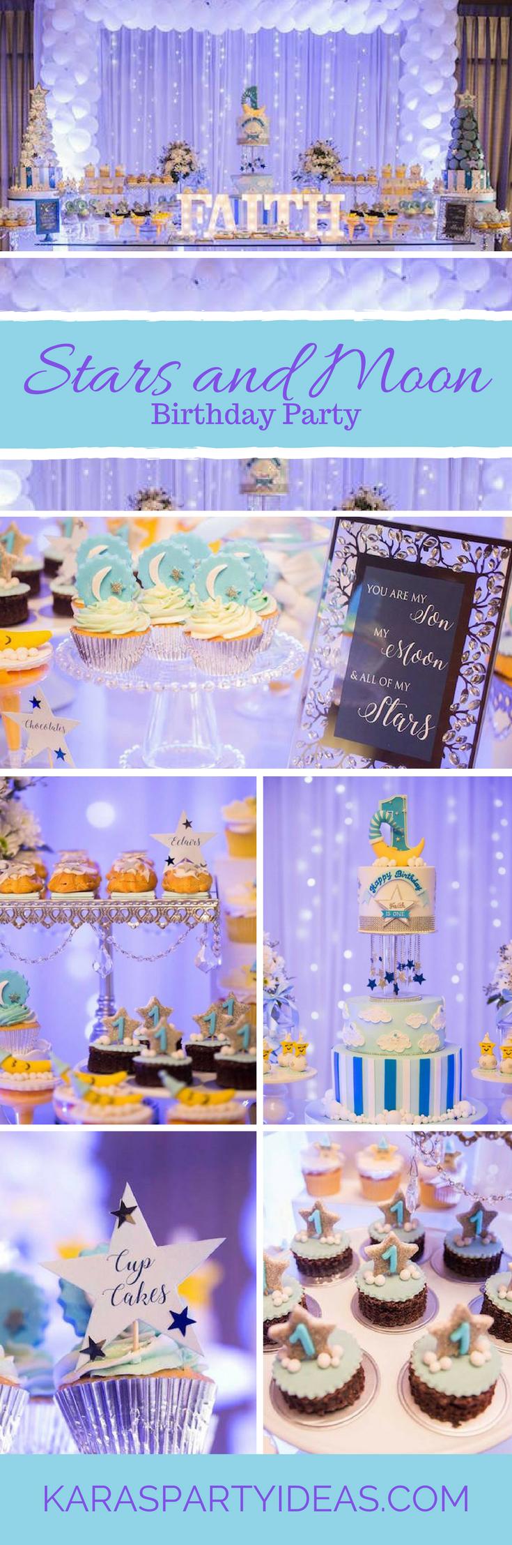 Stars and Moon Birthday Party via Karas Party Ideas - KarasPartyIdeas.com