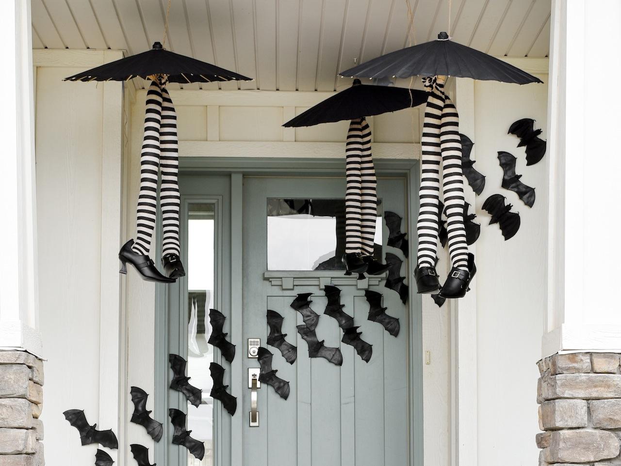 DIY Hanging Witch Umbrellas via Kara's Party Ideas