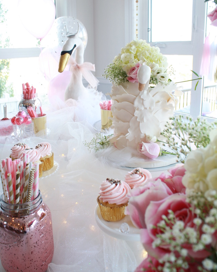 Kara S Party Ideas Swan Princess 1st Birthday Party Kara