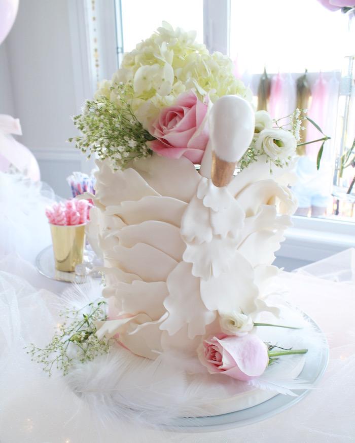 Kara's Party Ideas Swan Princess 1st Birthday Party