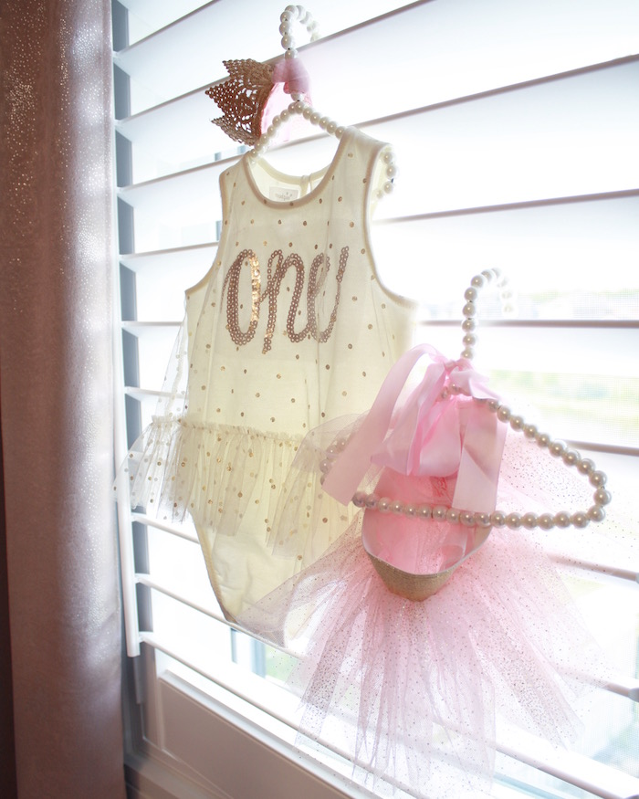 Tutu and onesie from a Swan Princess 1st Birthday Party on Kara's Party Ideas | KarasPartyIdeas.com (7)