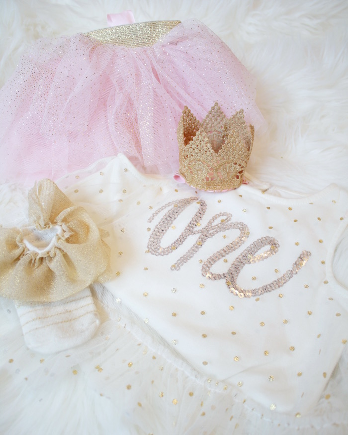 Clothing from a Swan Princess 1st Birthday Party on Kara's Party Ideas | KarasPartyIdeas.com (5)