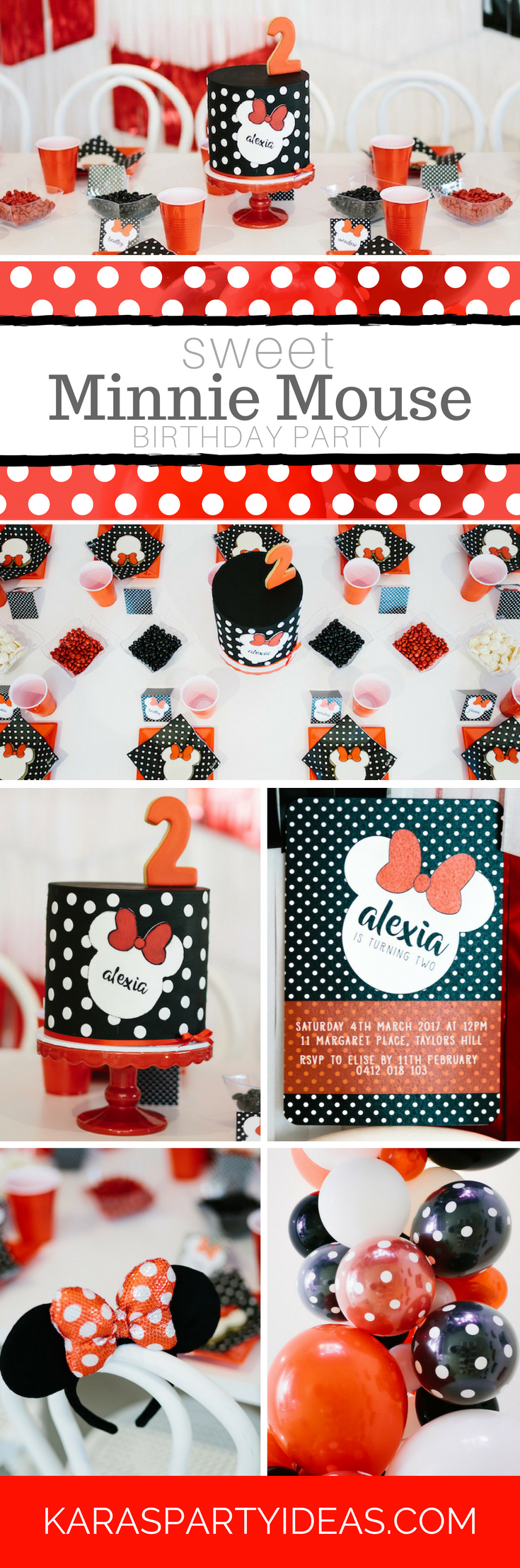 Sweet Minnie Mouse Birthday Party via Kara's Party Ideas - KarasPartyIdeas.com