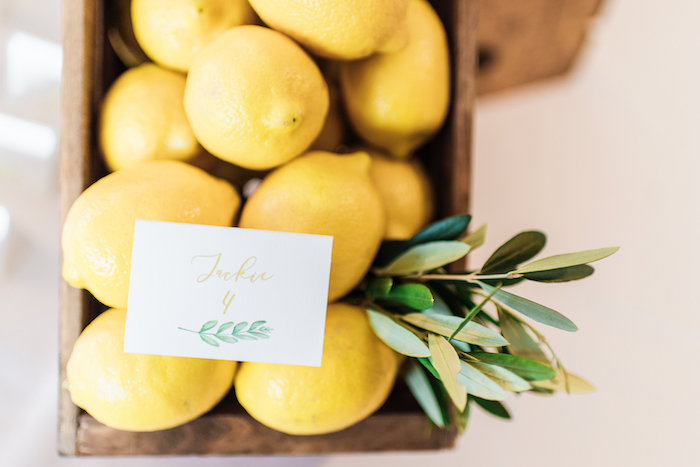 Lemons from a Tuscan Inspired Lemon Baby Shower on Kara's Party Ideas | KarasPartyIdeas.com (32)