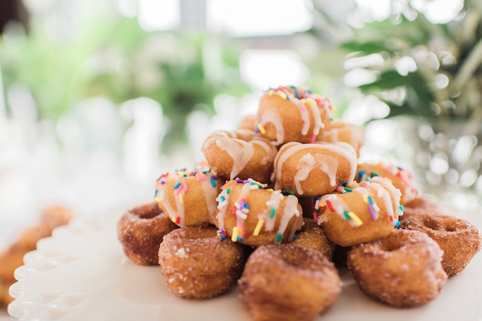 Doughnuts from a Tuscan Inspired Lemon Baby Shower on Kara's Party Ideas | KarasPartyIdeas.com (13)