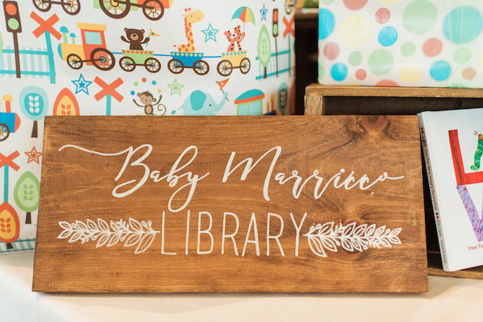Custom wooden sign from a Tuscan Inspired Lemon Baby Shower on Kara's Party Ideas | KarasPartyIdeas.com (8)