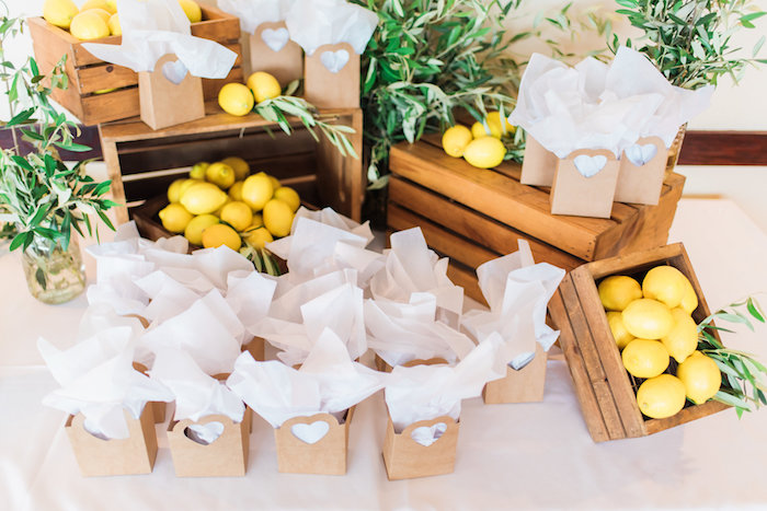 Favors from a Tuscan Inspired Lemon Baby Shower on Kara's Party Ideas | KarasPartyIdeas.com (5)