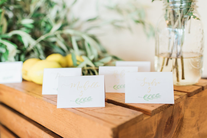Signage from a Tuscan Inspired Lemon Baby Shower on Kara's Party Ideas | KarasPartyIdeas.com (29)