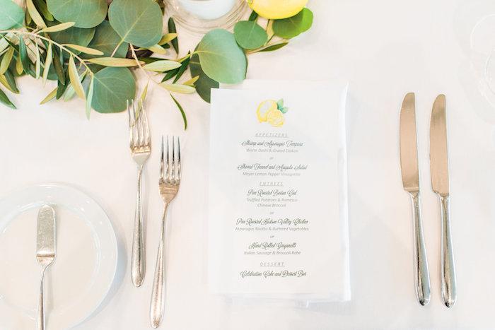 Menu card from a Tuscan Inspired Lemon Baby Shower on Kara's Party Ideas | KarasPartyIdeas.com (28)