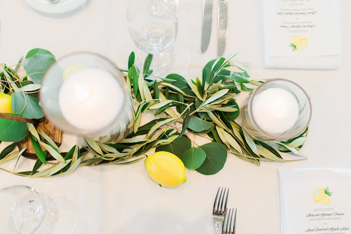 Centerpiece + guest table top from a Tuscan Inspired Lemon Baby Shower on Kara's Party Ideas | KarasPartyIdeas.com (27)