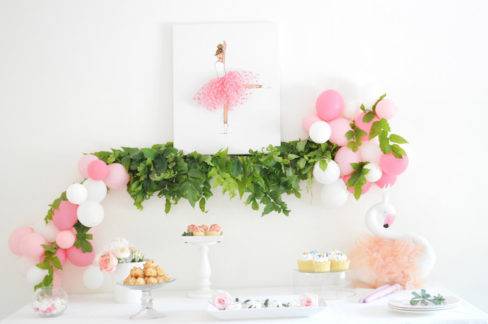 Ballerina sweet table from a Tutu Garden Birthday Party on Kara's Party Ideas | KarasPartyIdeas.com (17)