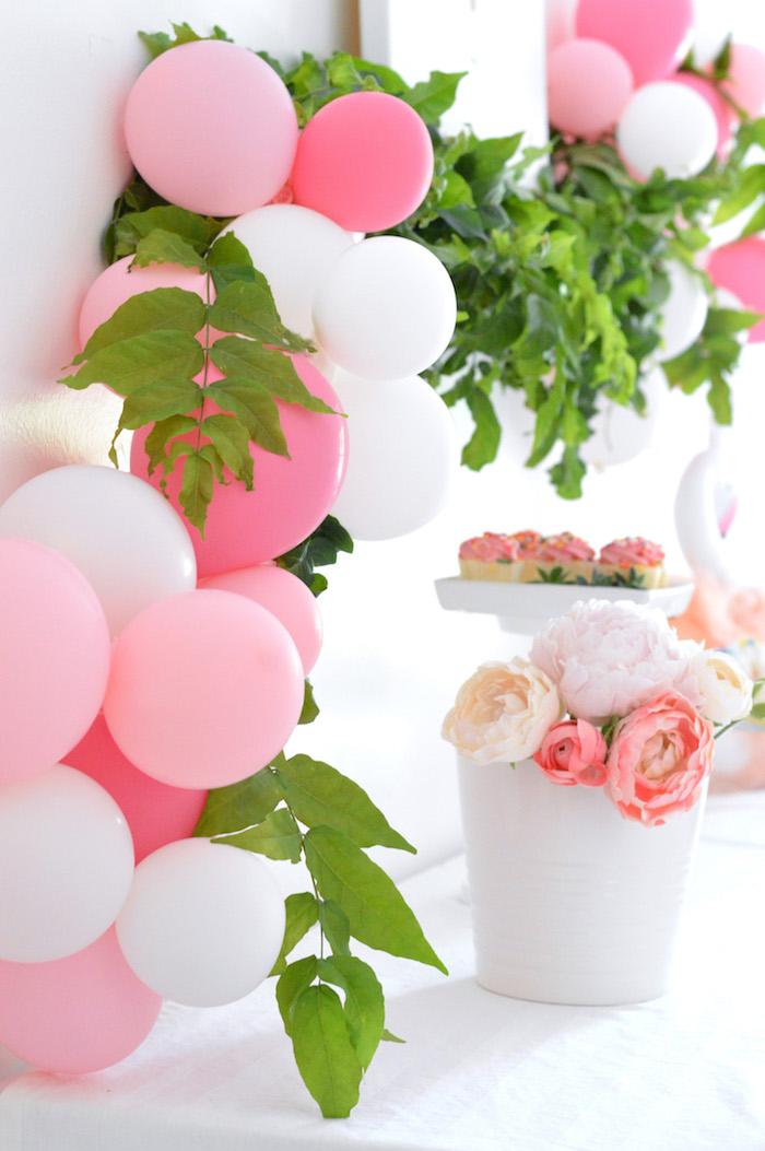 Balloon installation from a Tutu Garden Birthday Party on Kara's Party Ideas | KarasPartyIdeas.com (14)