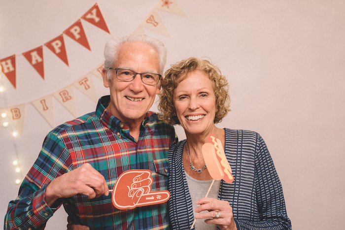 Photo booth from a Vintage Baseball Birthday Party on Kara's Party Ideas | KarasPartyIdeas.com (22)