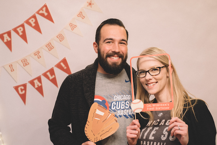 Photo booth from a Vintage Baseball Birthday Party on Kara's Party Ideas | KarasPartyIdeas.com (21)