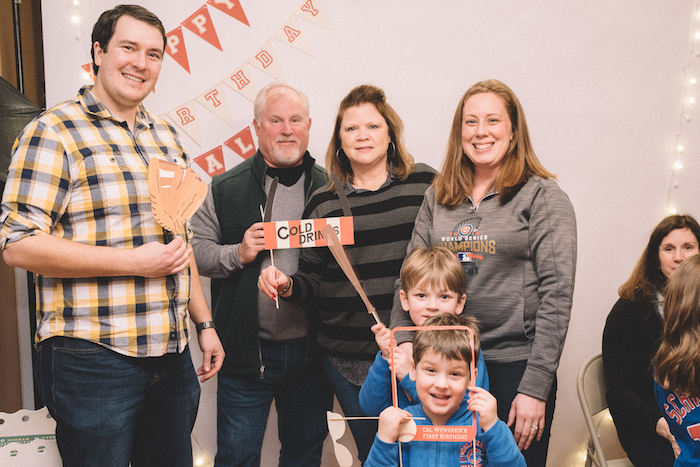 Photo booth from a Vintage Baseball Birthday Party on Kara's Party Ideas | KarasPartyIdeas.com (19)