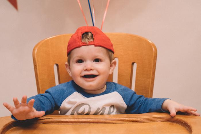 Little baseball player from a Vintage Baseball Birthday Party on Kara's Party Ideas | KarasPartyIdeas.com (16)