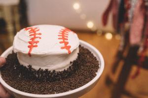 Baseball smash cake from a Vintage Baseball Birthday Party on Kara's Party Ideas | KarasPartyIdeas.com (15)
