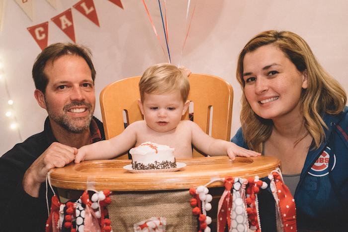 Smash cake from a Vintage Baseball Birthday Party on Kara's Party Ideas | KarasPartyIdeas.com (12)