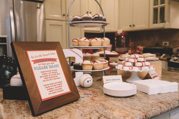 Sweet table from a Vintage Baseball Birthday Party on Kara's Party Ideas | KarasPartyIdeas.com (32)