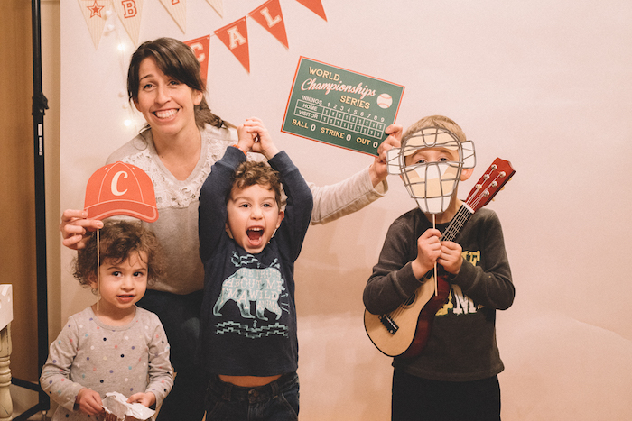 Photo booth from a Vintage Baseball Birthday Party on Kara's Party Ideas | KarasPartyIdeas.com (4)