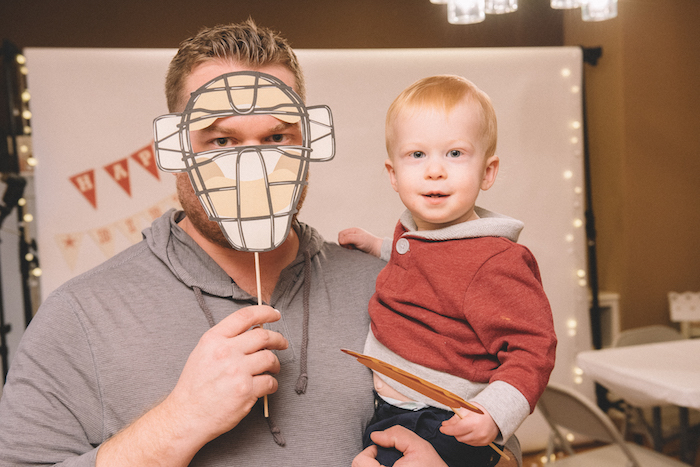 Photo booth from a Vintage Baseball Birthday Party on Kara's Party Ideas | KarasPartyIdeas.com (29)