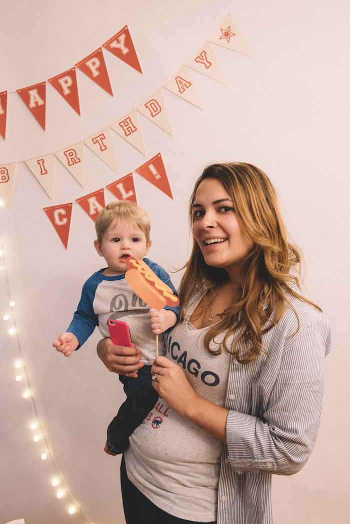 Photo booth from a Vintage Baseball Birthday Party on Kara's Party Ideas | KarasPartyIdeas.com (27)