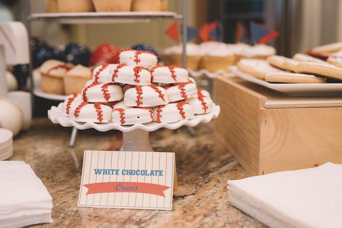 Baseball Oreos from a Vintage Baseball Birthday Party on Kara's Party Ideas | KarasPartyIdeas.com (25)