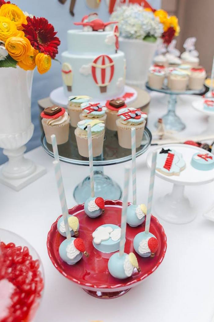 Sweets from a Vintage Hot Air Balloon Birthday Party on Kara's Party Ideas | KarasPartyIdeas.com (27)
