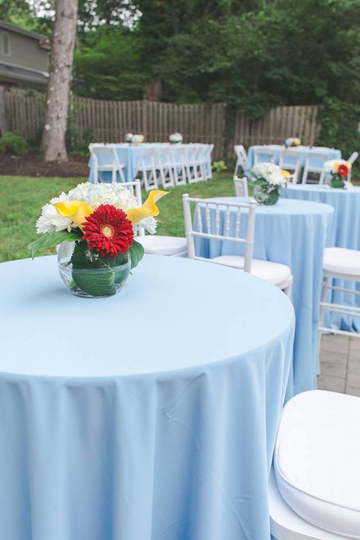 Guest tables from a Vintage Hot Air Balloon Birthday Party on Kara's Party Ideas | KarasPartyIdeas.com (25)