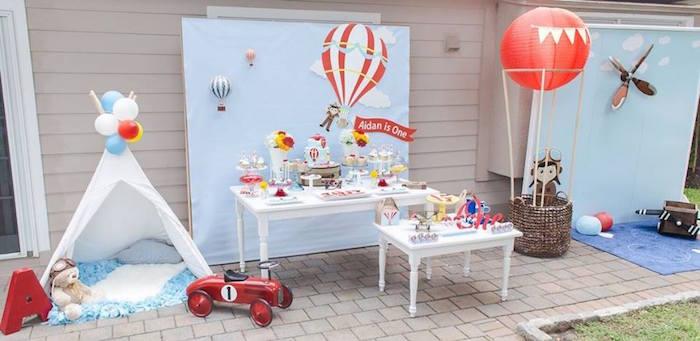 Karas Party Ideas Aidans Hot Air Balloon Birthday
