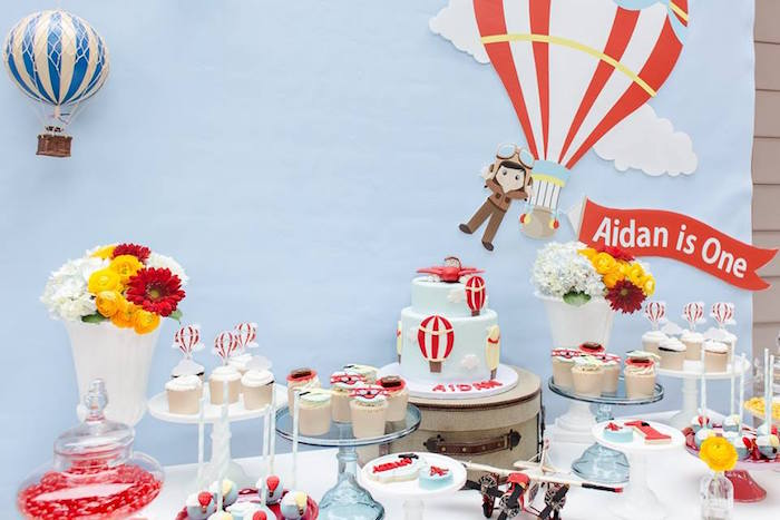 Vintage Hot Air Balloon Birthday Party on Kara's Party Ideas   KarasPartyIdeas.com (36)