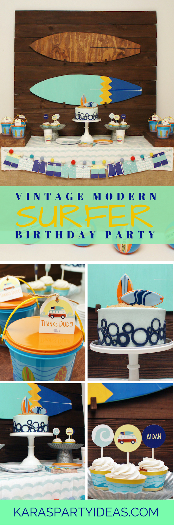 Tea time tea birthday party via kara s party ideas karaspartyideas com - Vintage Modern Surfer Birthday Party Via Kara S Party Ideas Karaspartyideas Com