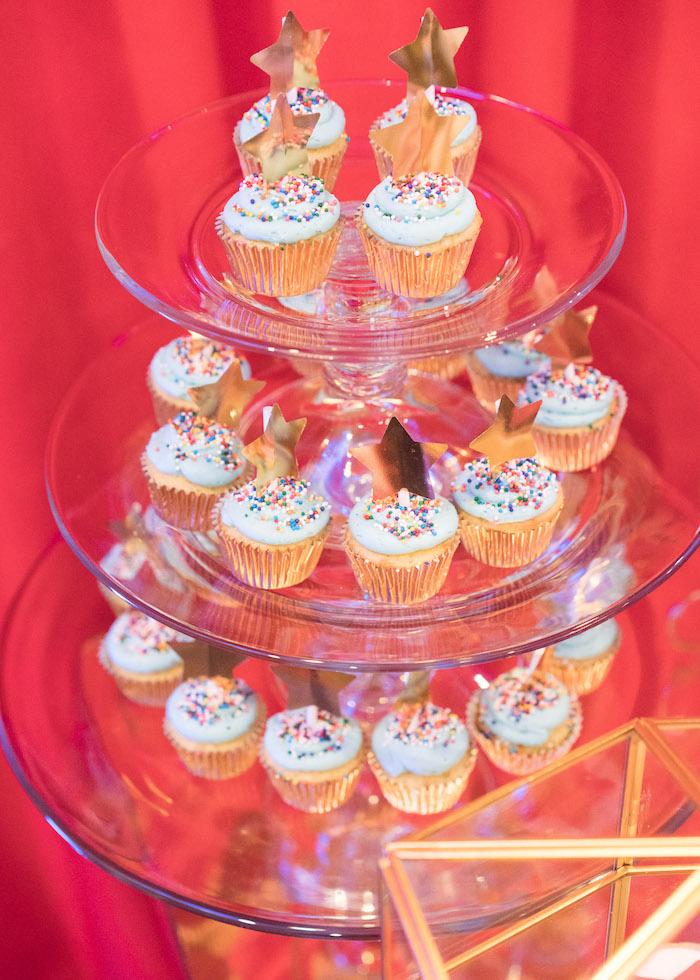 Circus cupcakes from a Vintage Whimsical Circus Birthday Party on Kara's Party Ideas | KarasPartyIdeas.com (22)