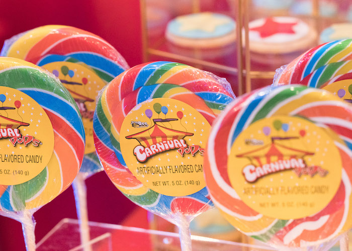 Carnival lollipops from a Vintage Whimsical Circus Birthday Party on Kara's Party Ideas | KarasPartyIdeas.com (16)
