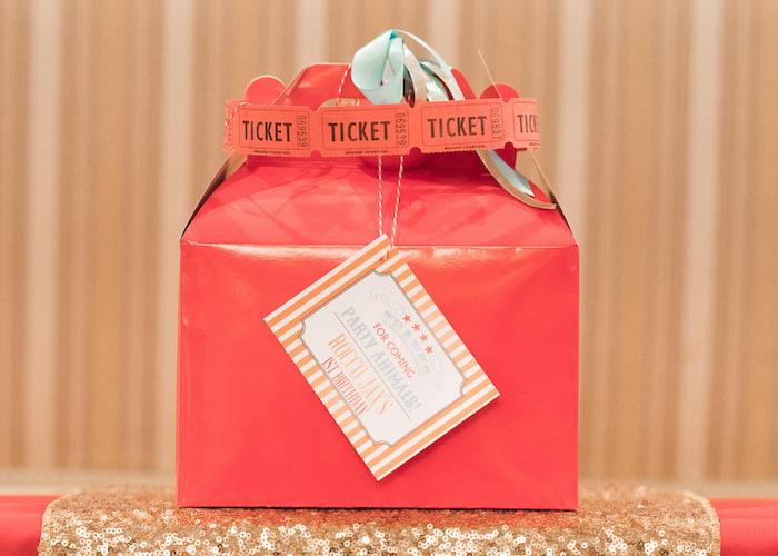 Gable circus favor box from a Vintage Whimsical Circus Birthday Party on Kara's Party Ideas | KarasPartyIdeas.com (29)