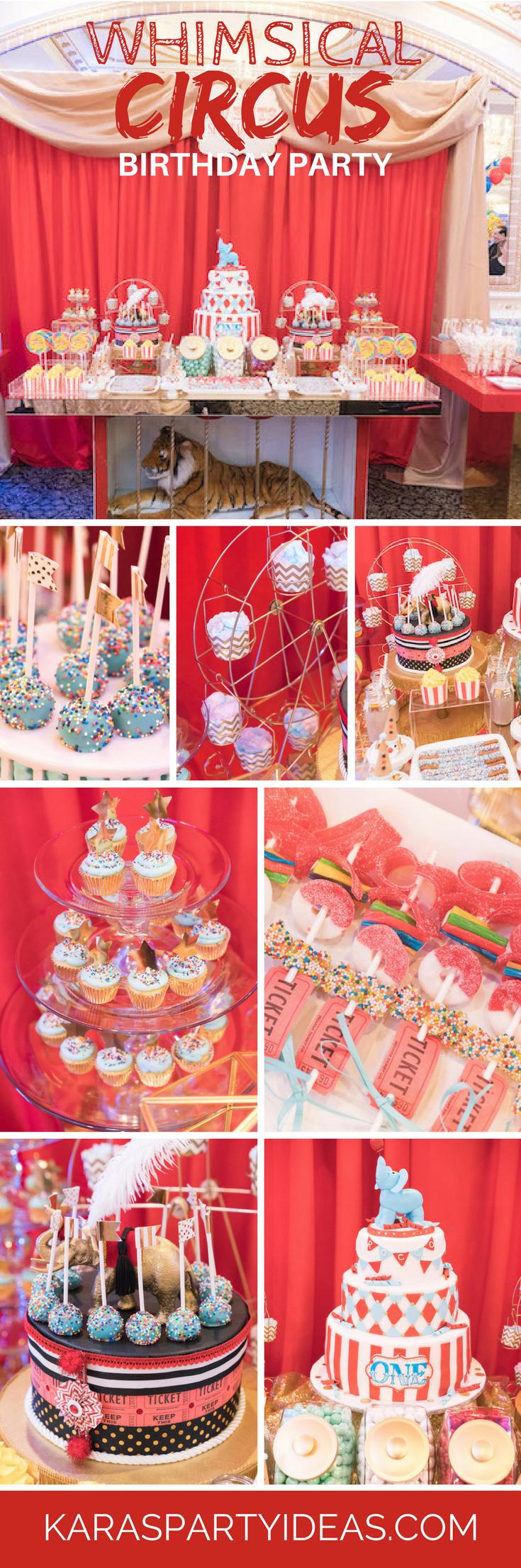 Whimsical Circus Birthday Party - Kara's Party Ideas via KarasPartyIdeas.com