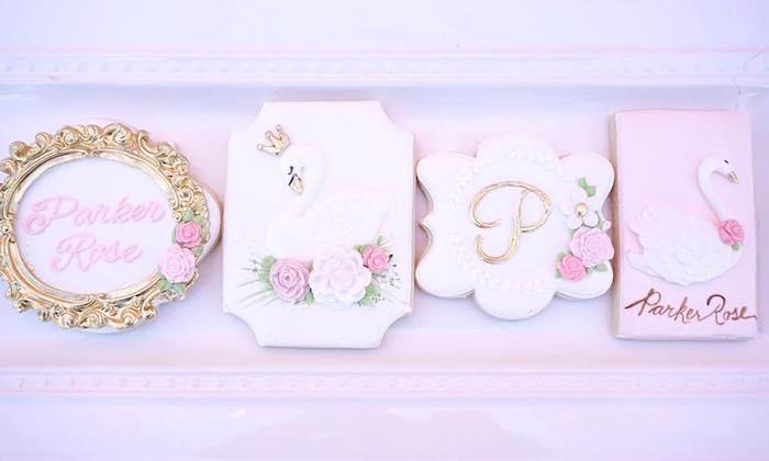 Cookies from a Whimsical Swan Soiree on Kara's Party Ideas | KarasPartyIdeas.com (21)